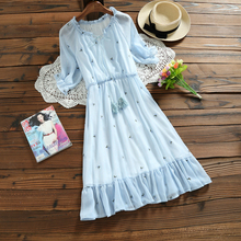summer dress 2017 new fashion girls tall waist floral mini chiffon dresses with ruffles women summer slim waist vestidos