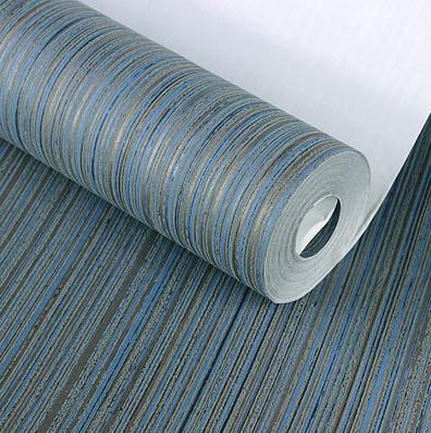 Modern Sapphire Vertical Stripes Wallpaper Roll Blue papel tapiz para pared moderno<br>