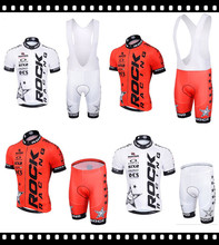 Promotion good Ropa Ciclismo Red White Rock Racing Jersey Breathable Bike Maillot Apparel Racing Culot Italy Ink  3D Gel Pad