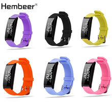 Hembeer X9 Smart Bracelet Heart Rate Smart Band Blood Pressure Monitor Smart Wristband Fitness Tracker Smartband 6 colors(China)