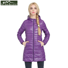 2017 New Casual Brand Lady Winter Warm Coat Women Ultralight White Duck Down Jacket Female Long Down Parka High Filling Power(China)