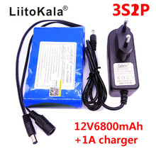 HK LiitoKala High Quality EU/US Plug DC 12V 6800mAh Li-ion Rechargeable Battery Pack Charging Power Bank For GPS Car Camera(China)