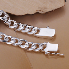 Men Jewelry 8mm chains 20cm 925 sterling silver bracelets bangles H227 gift box free shipping