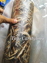 152x60cm New Mossy OAK CAMO Vinyl Film For Car / Motor & Bike wrap covering with air bubble free Grass Shadow Camouflage(China)