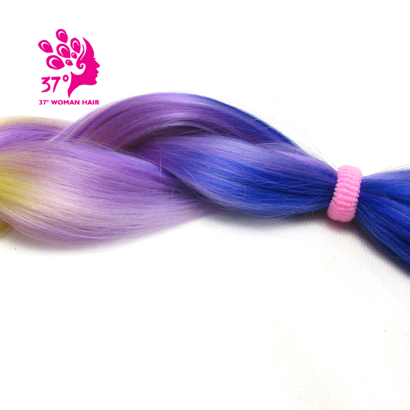 Ombre Kanekalon Braiding Hair box braids hair (136)