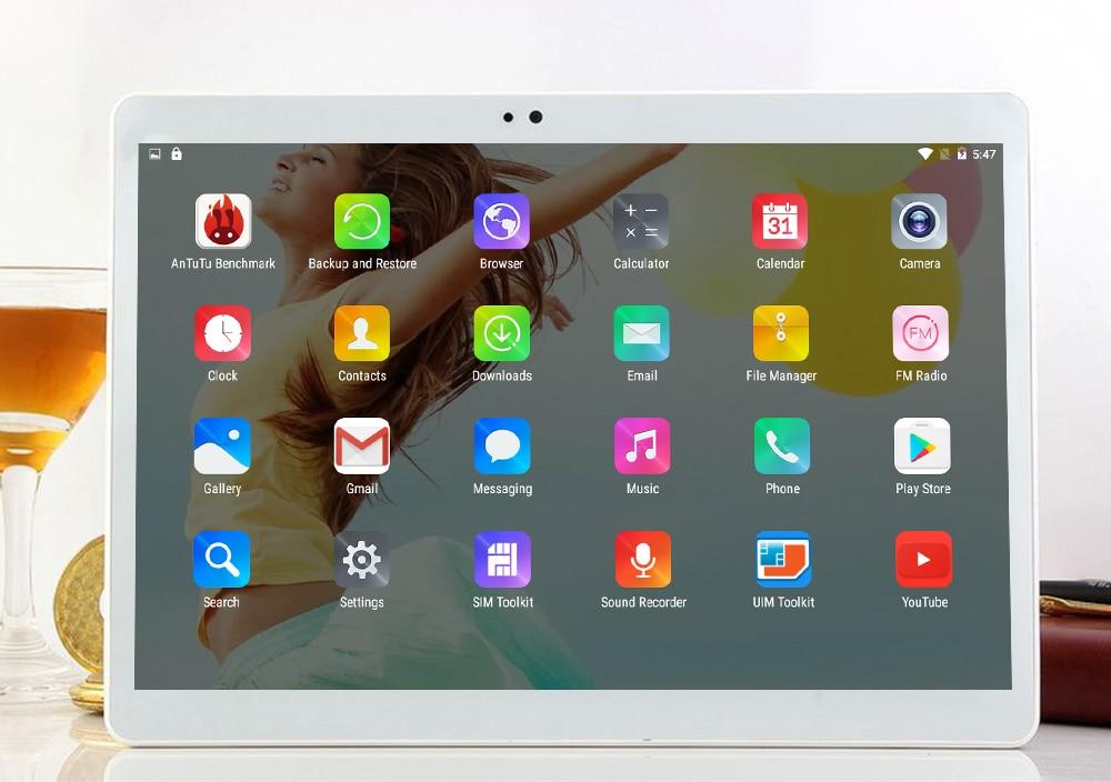 Newkita 10.1″ Deca Core Android 7.0 3G 4G LTE Tablet 4GB RAM 64GB ROM 2.5D 1920×1200 IPS Dual Sim GPS Kids Pad PC Computer GPS
