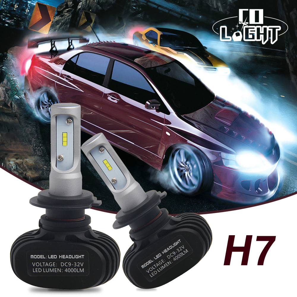 CO LIGHT 2Pcs H7 Led H1 Auto Car Headlight 25W 50W 8000LM 6000K 6500K Automobile Bulb All In One CSP Lumileds Lamp DC 12V 24V<br>