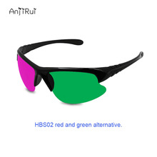 3D Glasses Red Blue/Red green Plasma TV Movie Dimensional Anaglyph Half-frame 3D Vision Glasses Movie Game DVD Video TV