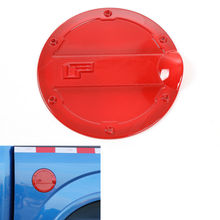 BBQ@FUKA Fit For Ford F150 2015-2016 Gas Door Cover Fuel Tank Oil Cap Decoration Trim Red Car Styling Sticker Accessory