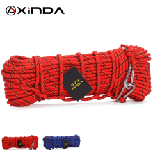 XINDA Escalada 10M Professional Rock Climbing Rope Outdoor Hiking Accessories 10mm Diameter 3KN High Strength Cord Safety Rope(China)