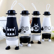 380ml creative with feet glass mug penguin belly glass gift cup customized(China)