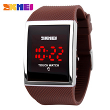 Skmei new fashion Men Women Electronic LED Watches touch screen digital watches Outdoor Unisex Students Sport Digital Wristwatch(China)