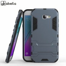 AKABEILA Phone Cover Case For Samsung Galaxy A7 2015 2017 A700FD A700F A9 2016 Pro Duos Case Cover PC PU Hybrid Rubber A720(China)