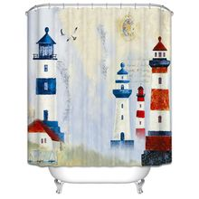 New 6 Style Art Theme Bathroom Shower Curtain Waterproof Polyester Home Decor 12Hook