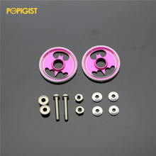 POPIGIST 19mm Aluminum Rollers w/Plastic Rings Custom Parts ForTamiya MINI 4WD 19m Colored Aluminum Guide -Wheel D036 2sets /lot