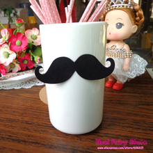 500pcs DIY Moustache Decoration Card, Party decoration Mustache Die Cuts, Gender Reveal, DIY Creative Party Deco Paper Cards(Hong Kong)