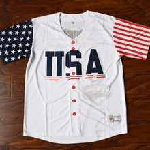 MM MASMIG Donald Trump #45 USA Baseball Jersey Stitched White(China)