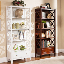 Bookcases Living Room Furniture Home Furniture solid wood bookcase with drawer bookshelf hot new whole sale 2017 European style(China)