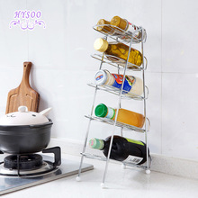 Removable five - storey racks Reclining racks Kitchen table condiments Storage racks Red wine racks(China)