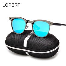 LOPERT NEW Retro Polarized Sunglasses Men Brand Designer Glasses Women HD Sun Glasses Unisex Fashion Male Eyewear UV400