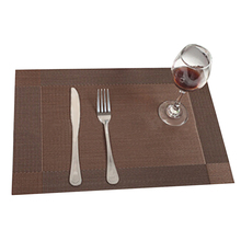 New 4Pcs Kitchen Table Bar Mat PVC Placemat Square Kitchen Accessories Dining Table Mat Bowl Pad Table Decoration Coffee