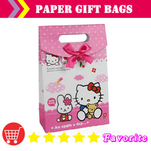 [shenzhen manufacturers] paper bags with logo/baby birthday ba g/lovely b ag/Christmas bbag/ sample bag/hello kitty bags#100166