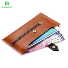 FLOVEME Universal Leather Pouch For iPhone 7 6 6s 4.7 inch Case For iPhone 7 6s Plus Huawei Samsung HTC LG 5.5 Phone Cover Bag