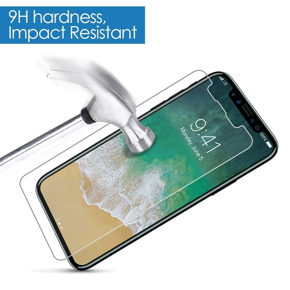 NYFundas For iPhone X Screen Protector Tempered Glass Pelicula de vidro for iPhone 10 8 Plus 7 6 6S 5 5S SE 5SE Film Protection (7)