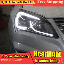 Car Styling for Hyundai Elantra Headlights 2011-2012 Elantra LED Headlight DRL Bi Xenon Lens High Low Beam Parking HID Fog Lamp(China)