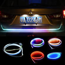 Car Styling RGB Undercarriage Floating Led Dynamic Streamer Turn Signal Tail LED Warning Lights Luggage Compartment Lights
