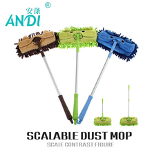 ANDI Mini mop handy easy mops floor car window cleaning new chenille telescopic removable dust mop Chenille cartoon(China)