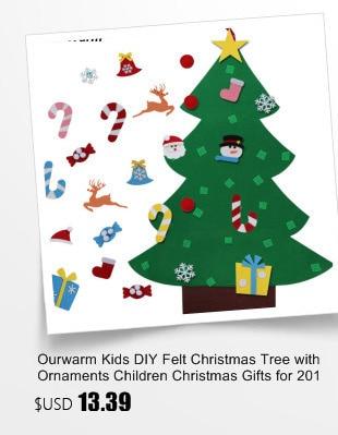 Ourwarm 18 DIY Felt Christmas Tree Pendant Drop Ornaments New Year Gift for Children Kids Door Wall Hanging Xmas Decoration 4