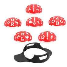 Durable Golf Ball Line Marker golfball Liner Template Drawing Alignment Tool Ball 6 in 1  Red and black