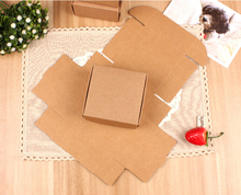 12.15 Yan 50Pcs Wedding favor Candy Box Kraft cardboard Box,Kraft Paper Jewellery Boxes ,Natural Kraft Gift Box(China)