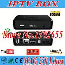 mag250 iptv box HD TV Linux System Iptv Set Top Box satellite receiver youtube