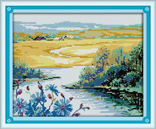 Beautiful spring season Printed on Canvas DMC Counted Chinese Cross Stitch Kits printed Cross-stitch set Embroidery Needlework