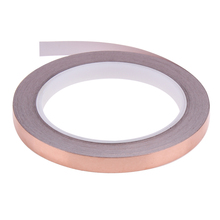 20 Meters 10mm Single Conductive Adhesive EMI Shielding Electromagnetic Shielding Copper Foil Tape  for Stained Glass Work