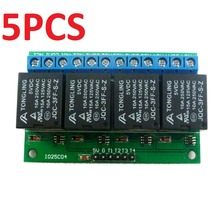 5x 4ch 5V Flip-Flop Latch Relay Module Bistable Self-locking Electronic Switch Low pulse trigger Board(China)