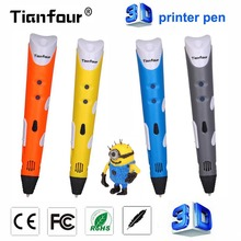 Tianfour magic 3D Pen DIY 3D Printer Pen Drawing Pens with ABS/PLA Filament 1.75mm for Kids Christmas birthday Halloween gift