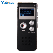 Yulass 16GB Digital Audio Dictaphone Voice Recorder Small USB Black Business Professionals Recording pen With WAV MP3 Record(China)