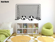 Mad World-Boy Soccer Football Goal Net Wall Art Stickers Wall Decal Home DIY Decoration Removable Room Decor Wall Stickers