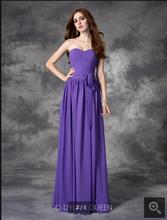 2017 Vestido De Novia purple chiffon a line sweetheart neck bridesmaid simple pleated summer beach bridesmaid gowns best selling