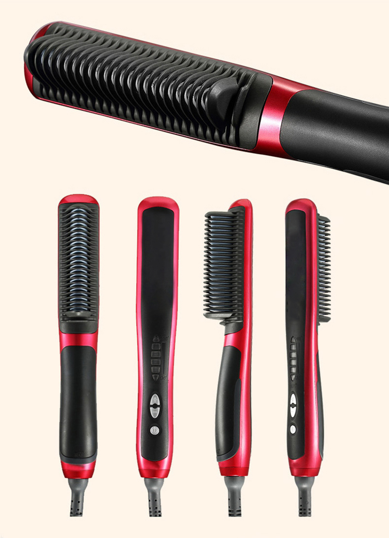 2016 New Profesional Electric Fast Hair Straightener Combs LCD Auto Temperature Control Flat Iron Electric Hair Brush<br>