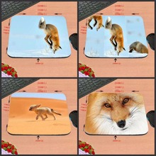 New Arrivals Hot Sale Luxury Printing Jumping Fox Aming Personalized Durable Animal Mouse Pad Mat Comfort Me Pads(China)