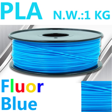 Fluorensecence Blue 3d filament impressora pla filament 1.75mm 1kg USA natural 3d printer 3d plastic filament 1.75 filamento pla