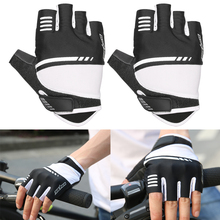 Buy 1Pair Gloves Men Women Cycling Bike Gloves Half Finger Cycling Antiskid Breathable Sports Glove Bicycle Equipment for $7.10 in AliExpress store