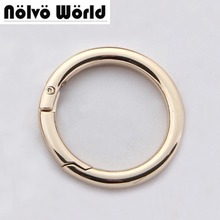 "30PCS,32mm (1-1/4"") Light gold Color Belt Strap Snap Clip Trigger Round Edge Spring Ring for Making Purse Bag Handbag"