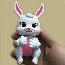 Finger Rabbit Happy Animal singe interactif kids Interactive Electronic Baby Toys for Children girl New Year Gift Dropshipping(China)