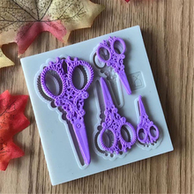 Sugarcraft Scissors silicone mold fondant mold cake decorating tools chocolate gumpaste mold E936