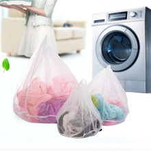 3PCS/LOT New Qualified Thicken Draw String Laundry Bags Fine Mesh Lingerie Protective Bra Mesh Bag